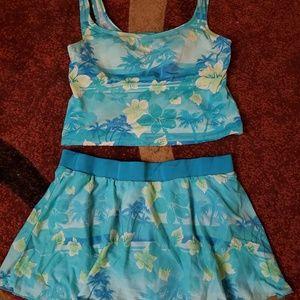 2pc tankini swim suit set